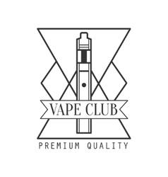 Geometric electronic cigarette premium quality vector