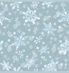 holiday seamless background with frosty snowflakes vector image