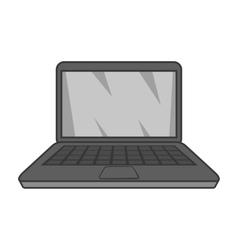 Laptop icon black monochrome style vector image vector image