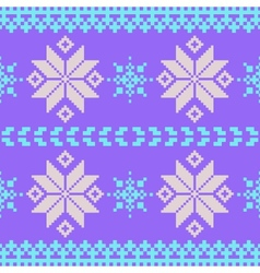 Lavender nordic seamless pattern vector image