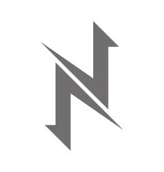 Letter n logo concept icon vector