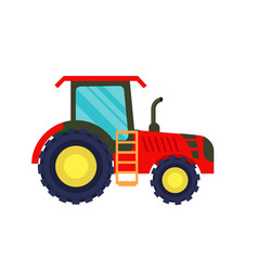 Modern agriculture tractor icon vector