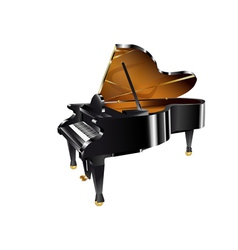 Piano on white vector image vector image