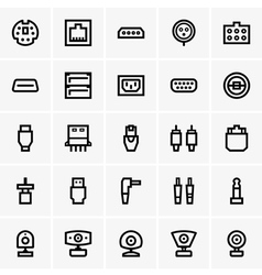 Plugs and web cameras vector image