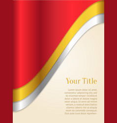 Red and gold business background vector