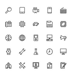 Science and technology line icons 2 vector