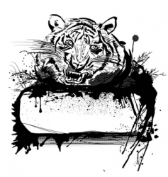 Tiger and frame vector
