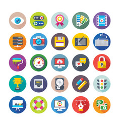 Web design and development icons 1 vector