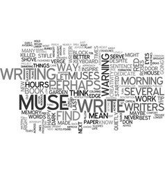 Why i killed my muse and you should too text word vector