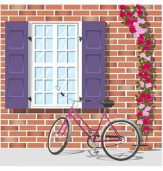 window and bike 1 vector image