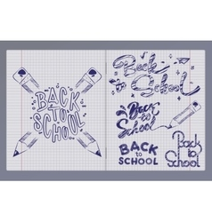 Graffiti pen in a notebook vector