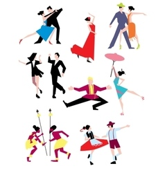 Traditional ethnic dances vector image
