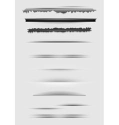 set of abstract dividers isolated on gray vector image