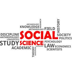 word cloud - social science vector image