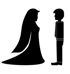 Black fiance and fianceel icon vector