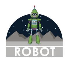 Robot technology automated intelligence futuristic vector