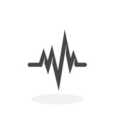 Cardiology icon logo on white background vector
