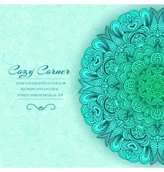 Hand drawn abstract background ornament vector