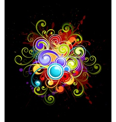 Colorful curls vector