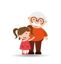 Happy grandparents design vector