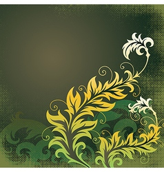 8floral line 16 1 vector image vector image