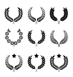 Wreaths set of different styles vector