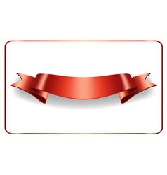 Red ribbon satin blank banner vector