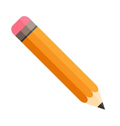 Pencil with eraser isolated flat design vector
