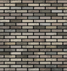 abstract brick wall seamless vector image vector image