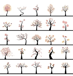 Abstract Cute Trees vector image vector image