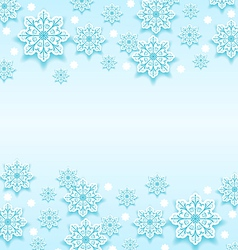 Abstract winter background with snowflakes vector