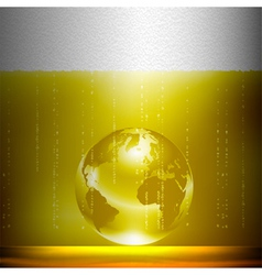 Beer background with globe vector image vector image
