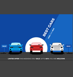 best cars in the city for vector image