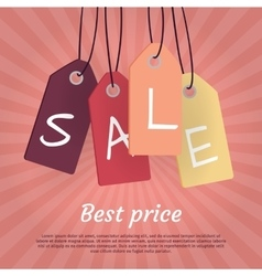 Best Price Set of Sale Tags with Word Sale vector image