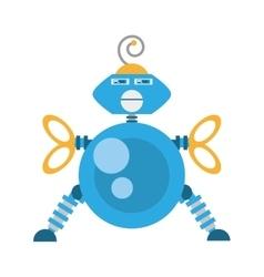 blue robotic antenna communication mechanical vector image