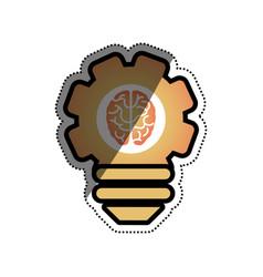 bulb idea and human brain vector image