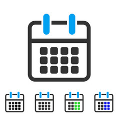 calendar poster flat icon vector image vector image
