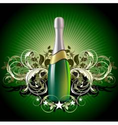 champagne celebrate vector image vector image