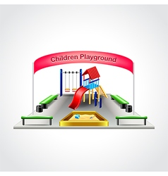Children playground isolated vector image