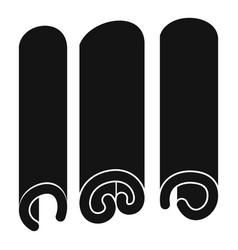 Cinnamon icon simple style vector