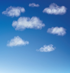 Clouds with blue sky vector image vector image