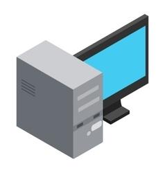 Computer icon cartoon style vector image vector image