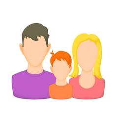 Family avatars icon cartoon style vector