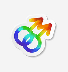 Gender identity icon gay symbol vector
