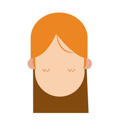 Girl freckles faceless people character image vector
