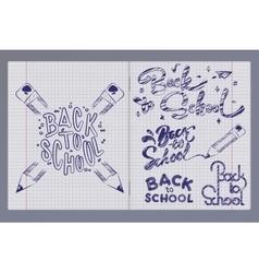 graffiti pen in a notebook vector image vector image