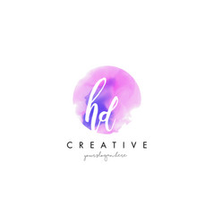 hd watercolor letter logo design with purple vector image