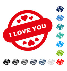 i love you stamp seal icon vector image vector image