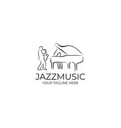 Jazz music logo design template vector