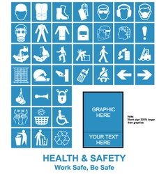 Make your own Health and Safety signs vector image